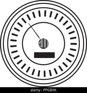 Internet speedometer symbol in black and white - Stock Photo