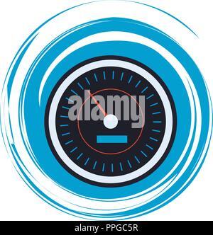 Internet speedometer symbol - Stock Photo