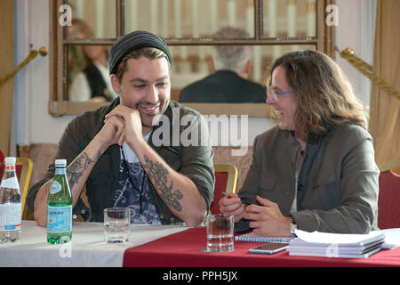 Rome, Italy. 26th September, 2018. David Garrett attending the press conference of Explosive Live Tour 2018 at Excelsior Hotel in Rome Credit: Silvia Gerbino/Alamy Live News - Stock Photo