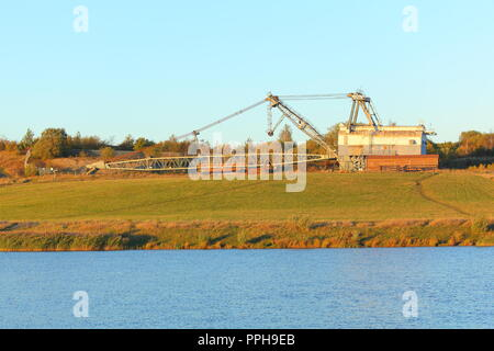 A preserved Bucyrus Erie 1150 Walking Dragline - Stock Photo
