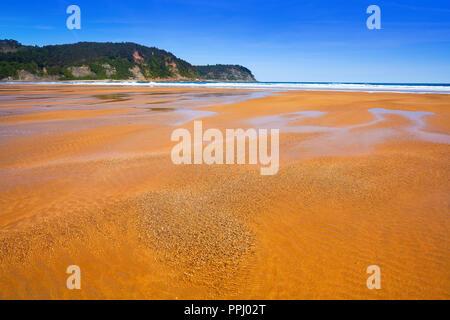 Rodiles Beach in Asturias of spain near villaviciosa river - Stock Photo