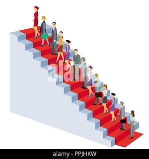 Career climb stairs successfully - Stock Photo