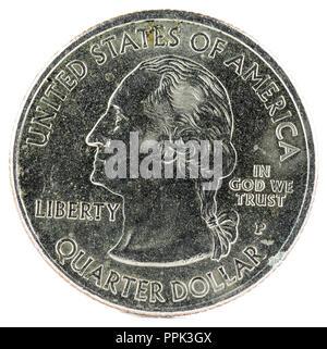 United States Coin. Quarter Dollar 2009 P. Puerto Rico. Obverse. - Stock Photo