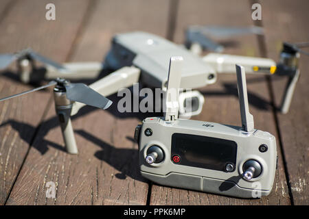 A complete set of Mavic 2 pro and a remote controller (RC) - Stock Photo
