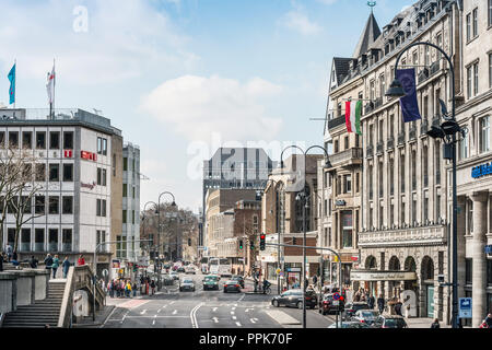 COLOGNE, GERMANY- March 14, 2018 : Street view in Cologne, Germany. - Stock Photo