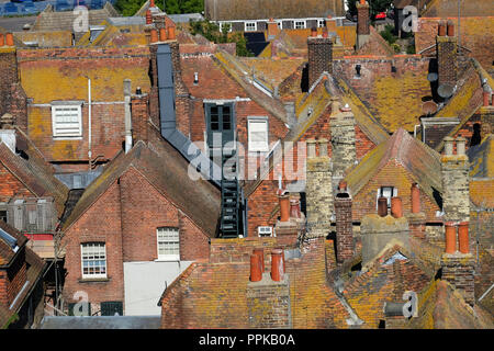 Across the Rooftops, Rye, East Sussex - Stock Photo