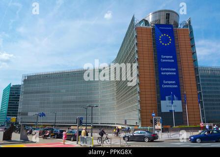 Berlaymont, European Commission headquarters, European Quarter, Brussels, Belgium - Stock Photo