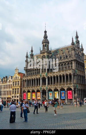 Grand Place, Grote Markt, old town, Brussels, Belgium - Stock Photo
