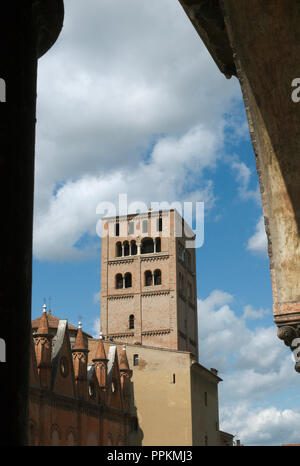 Belfry of the Cathedral in Mantua, Lombardy Italy - Stock Photo