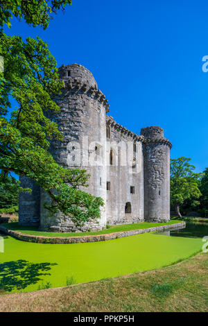 Nunney Castle, Somerset, England, United Kingdom, Europe - Stock Photo