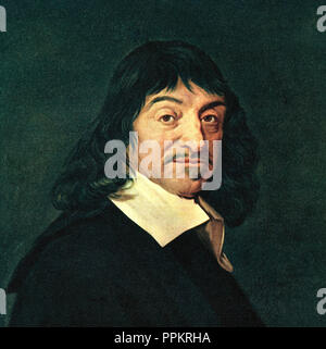 René Descartes, 1596 – 1650. French philosopher, mathematician, and scientist. - Stock Photo