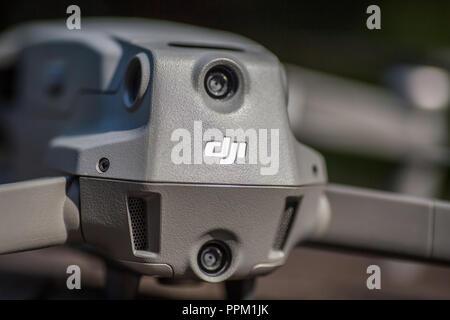 close up view of Mavic 2 pro rear body. - Stock Photo