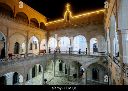 Syrian Orthodox Monastery Mar Mattai (St. Matthias Monastery) on the edge of the Nineve Plain - Syrisch-orthodoxes Kloster Mar Mattai (St. Matthias-Kloster) am Rande der Nineve-Ebene - Stock Photo