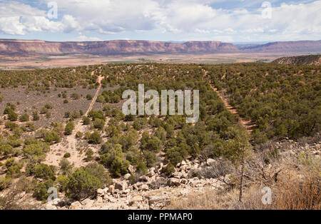 Paradox Valley in the south west of Colorado, USA - Stock Photo