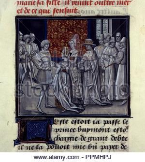 BNF Mss fr 68 folio 143. - Stock Photo