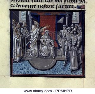 BNF Mss fr 68 folio 297v. - Stock Photo