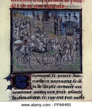 BNF Mss fr 68 folio 359. - Stock Photo