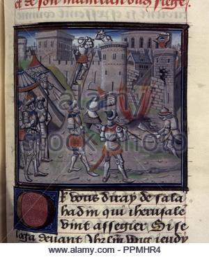 BNF Mss fr 68 folio 404. - Stock Photo