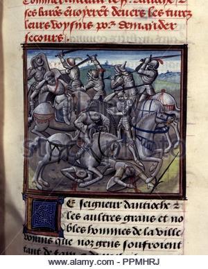 BNF, Mss fr 68, folio 57. - Stock Photo