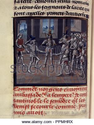 BNF, Mss fr 68, folio 83v. - Stock Photo