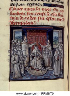 BNF, Mss fr 68, folio 112. - Stock Photo