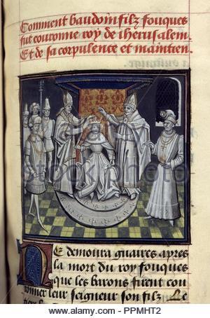 BNF, Mss fr 68, folio 233. - Stock Photo