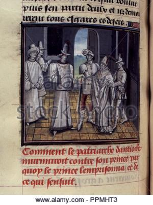 BNF, Mss fr 68, folio 272v. - Stock Photo