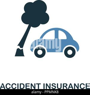 Accident Insurance icon in two color design. Line style icon from insurance collection. UX and UI. Pixel perfect premium accident insurance icon. For  - Stock Photo