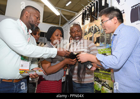 Johannesburg, South Africa  26th Sep, 2018  People visit the China
