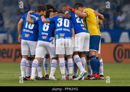 Belo Horizonte, Brazil. 26th Sep, 2018. Cruzeiro team during a match between Cruzeiro and Palmeiras, valid for the Brazil Cup, held at the Mineirão stadium. Credit: Daniel Oliveira/FotoArena/Alamy Live News - Stock Photo