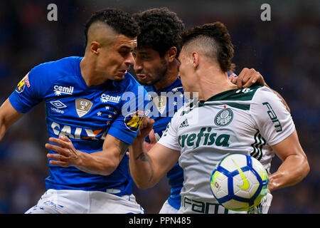 Belo Horizonte, Brazil. 26th Sep, 2018. Egídio do Cruzeiro during a match between Cruzeiro and Palmeiras, valid for the Brazil Cup, held at the Mineirão stadium. Credit: Daniel Oliveira/FotoArena/Alamy Live News - Stock Photo