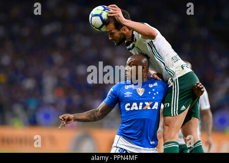 Belo Horizonte, Brazil. 26th Sep, 2018. Sassa do Cruzeiro during match between Cruzeiro and Palmeiras, valid for the Brazil Cup, held at the Mineirão stadium. Credit: Daniel Oliveira/FotoArena/Alamy Live News - Stock Photo
