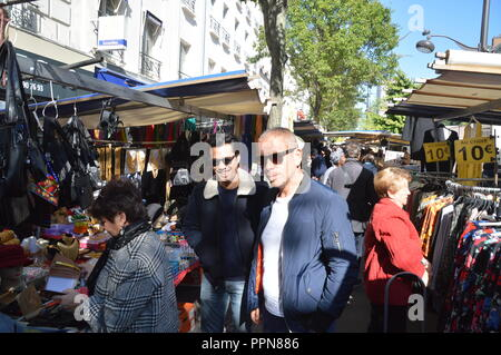 Paris, France. 27th Sep 2018. French actors Frederic CHAU and Medhi SADOUN spotted in Paris on a market place on Avenue d Italie, Quartier TOLBIAC (the little Asia or Chinatown of Paris).France. 27 September 2018.  ALPHACIT NEWIM / Alamy Live News Credit: Alphacit NEWIM/Alamy Live News - Stock Photo
