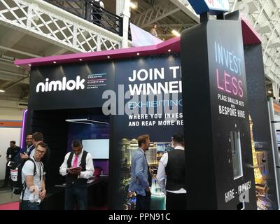 London, UK. 27th September, 2018. eCommerce Expo at Kensington Olympia Exhibition Centre, London, UK Credit: Nastia M/Alamy Live News - Stock Photo