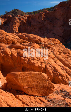 Redstone outcrop, Lake Mead National Recreation Area, Nevada - Stock Photo