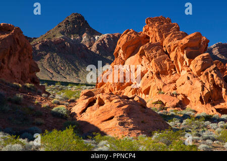 Black Mountains from Redstone, Lake Mead National Recreation Area, Nevada - Stock Photo