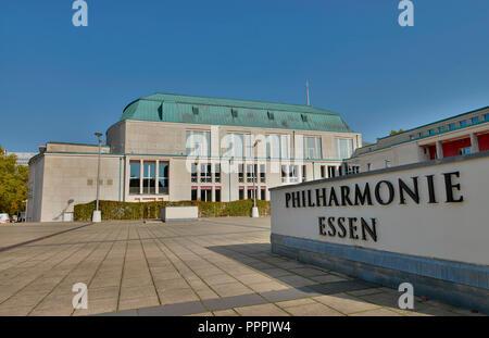 Philharmonie, Huyssenallee, Essen, Nordrhein-Westfalen, Deutschland - Stock Photo