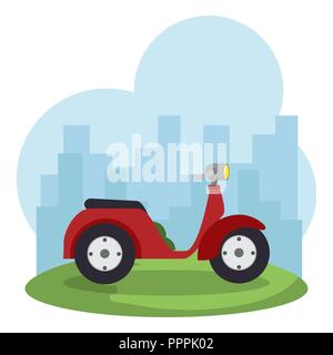 scooter bike isolated icon - Stock Photo