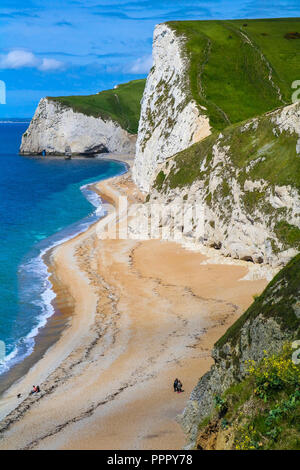 White Cliffs on the Coast of Southern England - Stock Photo