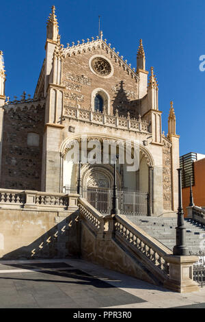 MADRID, SPAIN - JANUARY 22, 2018:  Amazing view of San Jeronimo el Real church in City of Madrid, Spain - Stock Photo