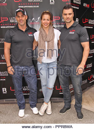 gemma atkinson at ultimate performance fitness gym opening in manchester at the old Granada Television Studios, Quay Street, Manchester on sunday 20 september 2015 - Stock Photo