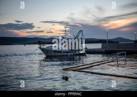 Fischer boot in Kroatien - Stock Photo