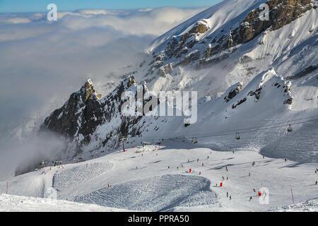 Gourette ski resort, Pyrenees Atlantiques, Aquitaine region, Ossau Valley, France - Stock Photo