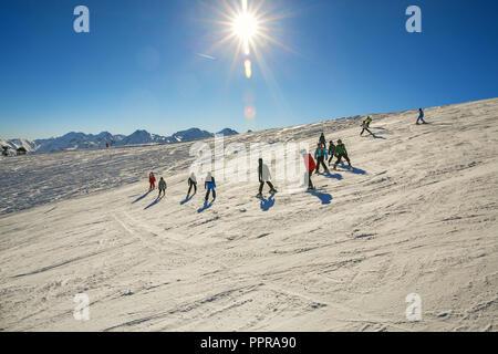 Pla d' Adet ski resort. Saint Lary Soulan. Hautes Pyrenees. France - Stock Photo