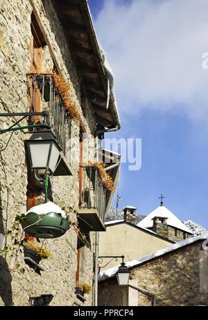Old town in Andorra la Vella. Andorra - Stock Photo