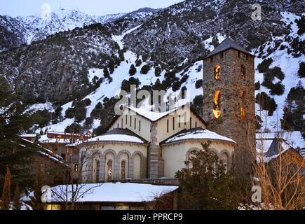 Sant Esteve church in Andorra la Vella. Andorra - Stock Photo