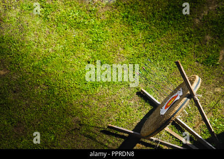 target grass top view archery competition background green - Stock Photo