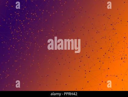Abstract connection dots. Technology background. - Stock Photo