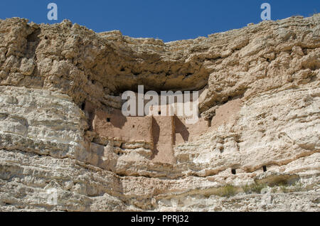 Montezum's Castle pueblo ruins in northern Arizona, USA - Stock Photo