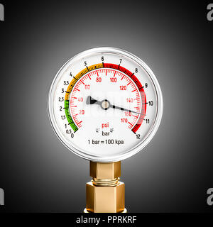 pressure gauge 3d rendering image - Stock Photo